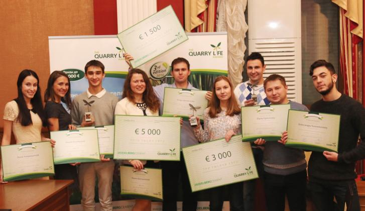 The national ceremony of the 3rd round of the Quarry Life Award contest in Russia.