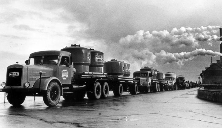 Цементовозы, 1953.