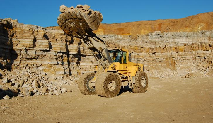 Truck in Gurovo quarry.