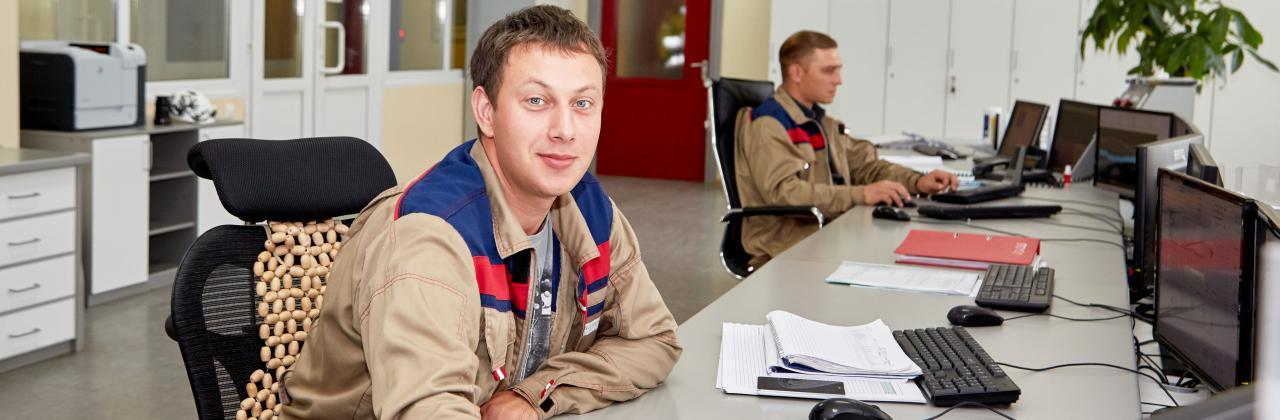 Employees of HeidelbergCement Russia.